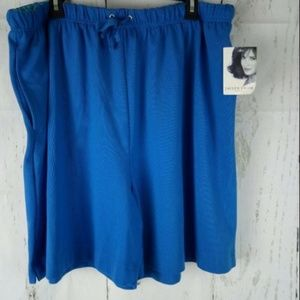 Jaclyn Smith Sport Plus Drawstring Blue Shorts